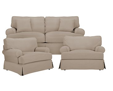 Levi Khaki Cotton Down Living Room