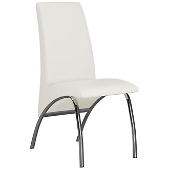 Mensa White Upholstered Side Chair