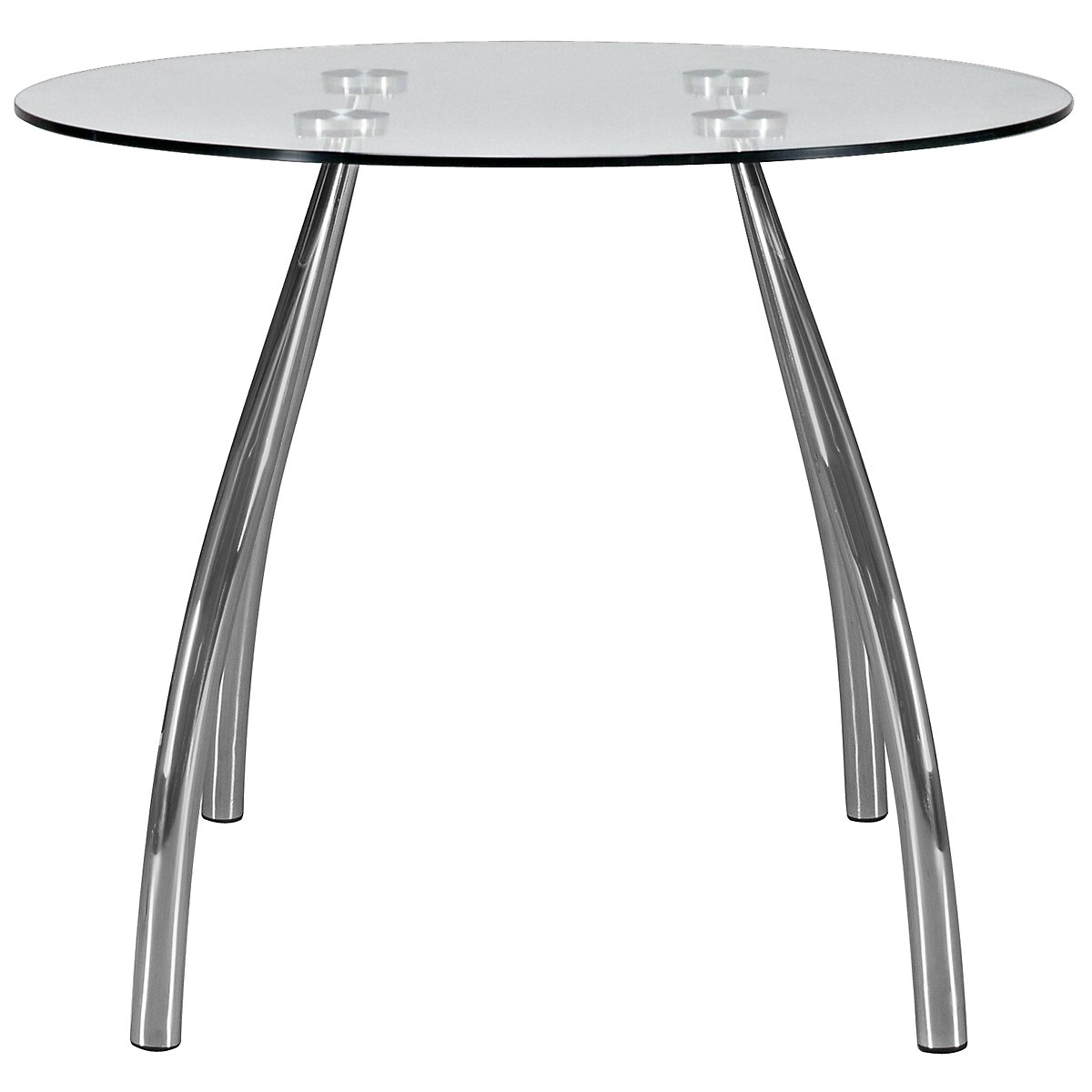 Mensa Glass Round High Dining Table