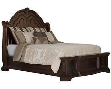 Moreau Dark Tone Panel Bed
