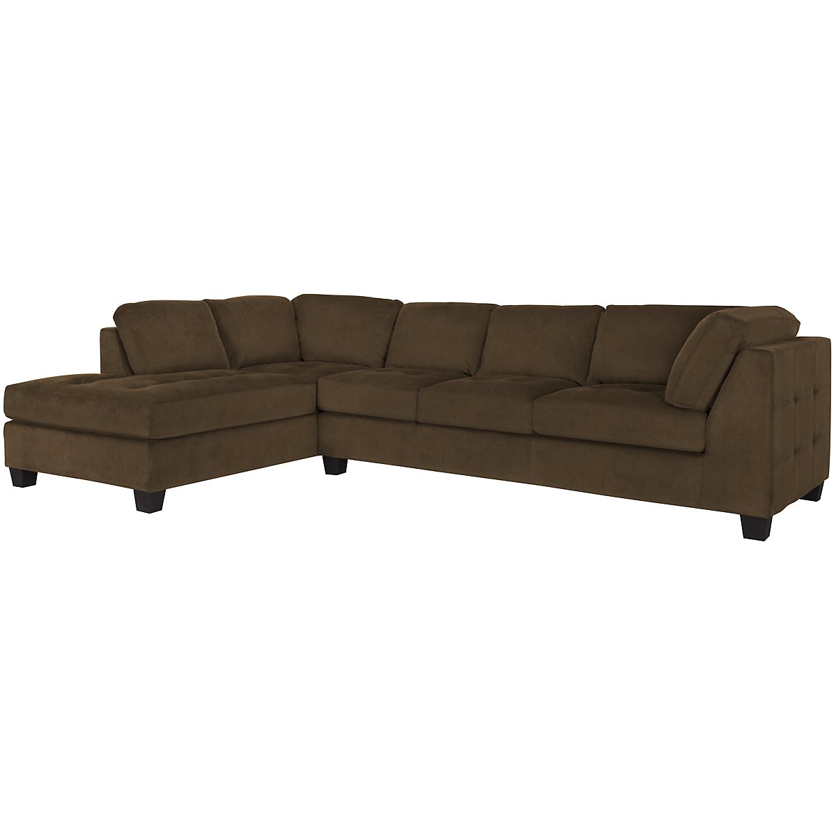 City Furniture Mercer2 Dk Brown Microfiber Left Chaise