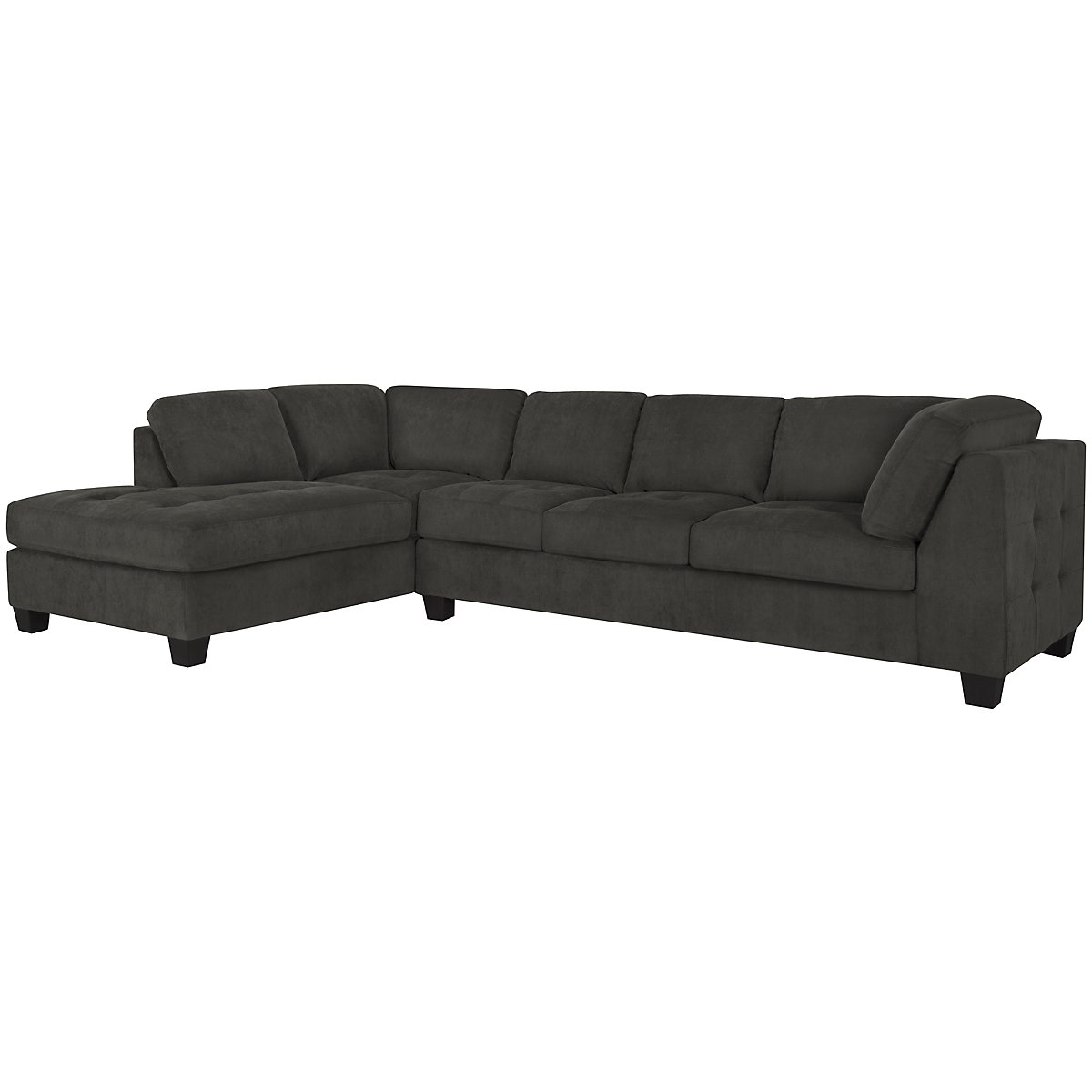 Mercer2 Dark Gray Microfiber Left Chaise Sectional