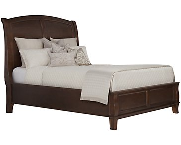 Canyon Dark Tone Wood Platform Bed