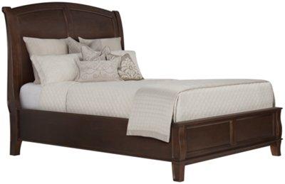 canyon dark tone wood platform bed - Wooden Platform Bed
