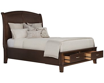 Canyon Dark Tone Wood Platform Storage Bed