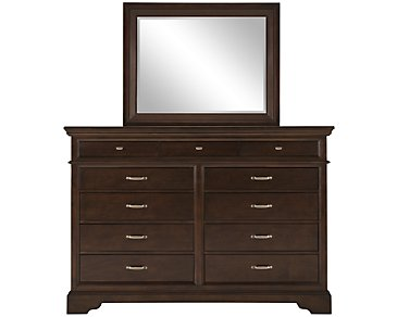Canyon Dark Tone Large Dresser & Mirror