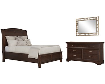 Canyon Dark Tone Wood Platform Bedroom