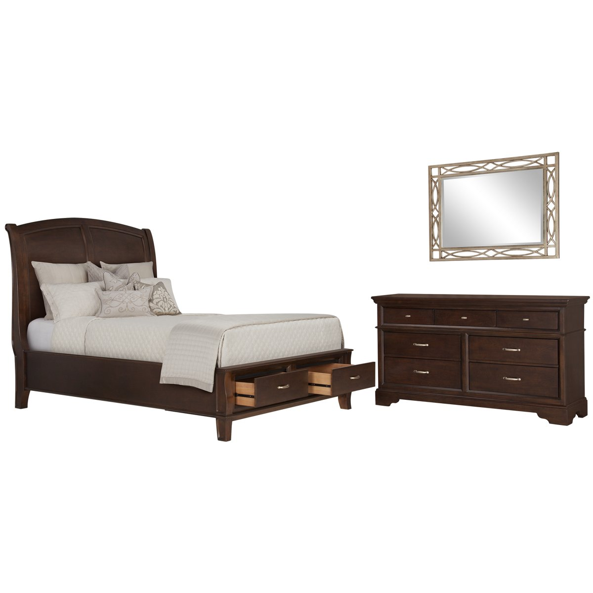 Marvelous photograph of City Furniture: Canyon Mid Tone Wood Platform Storage Bedroom with #8C613F color and 1200x1200 pixels
