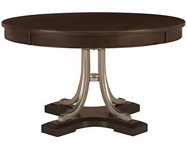 Canyon Dark Tone Round High/Low Table