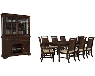 Canyon Dark Tone Rectangular Dining Room