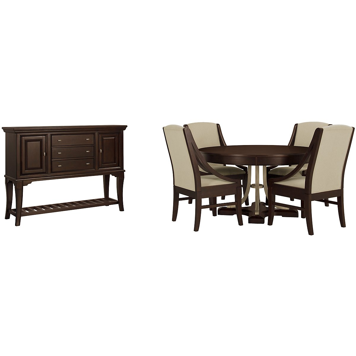 Canyon Dark Tone Round Dining Room