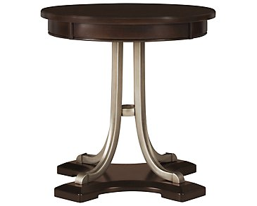 Canyon Dark Tone Wood Round End Table