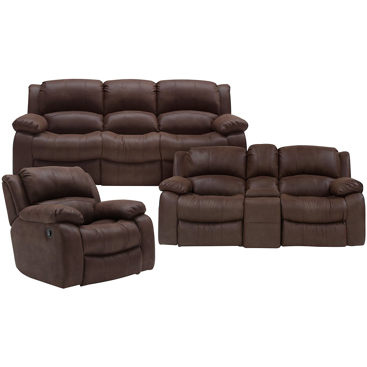 Tyler2 Dark Brown Microfiber Power Reclining Living Room