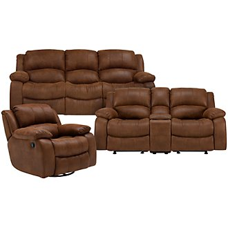 Tyler2 Md Brown Microfiber Manually Reclining Living Room
