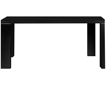 Paris Black Glass Rectangular Table