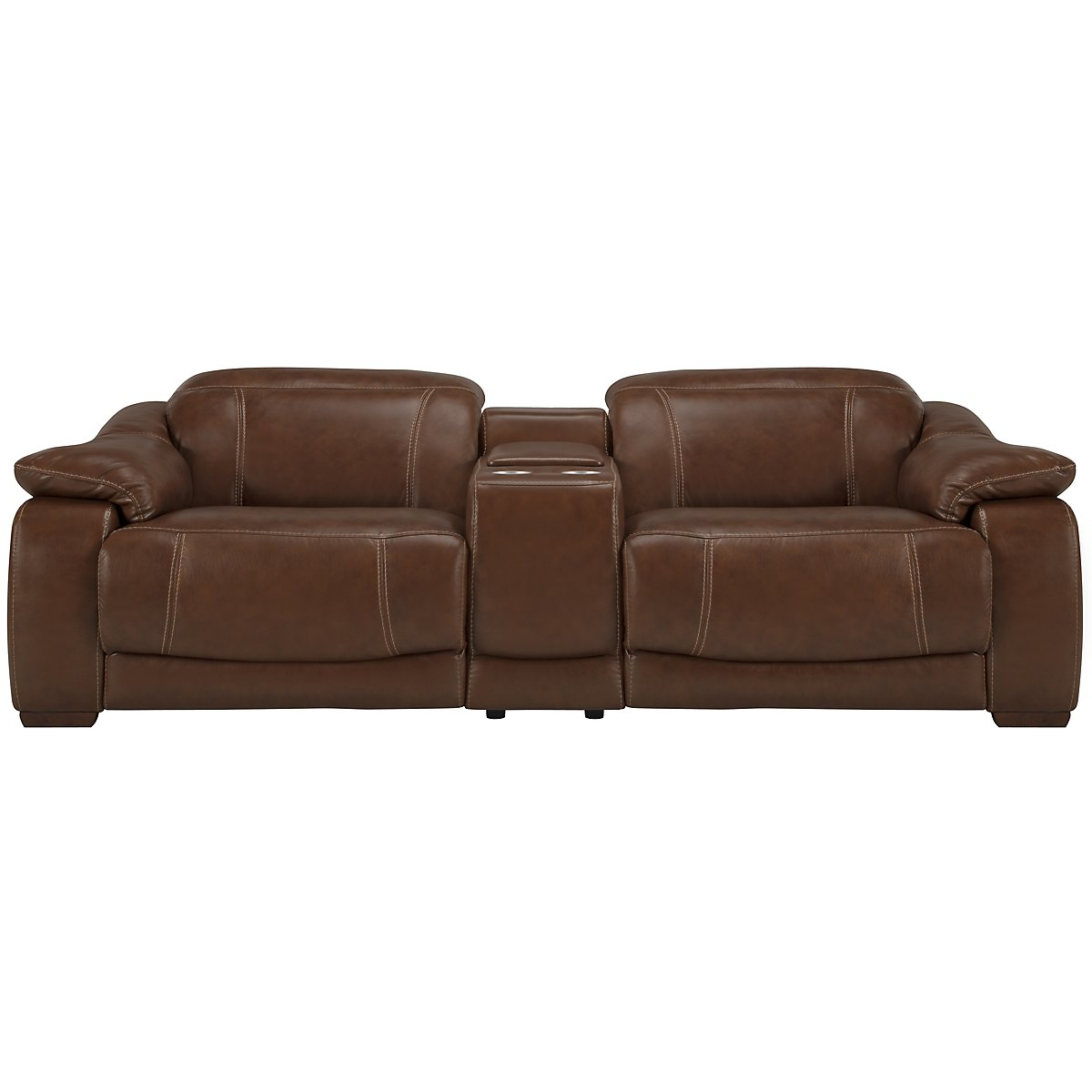Orion Md Brown Leather & Bonded Leather Power Reclining Sofa