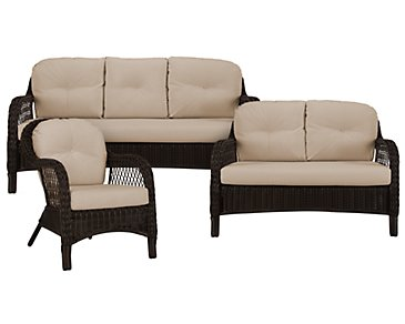 Java Khaki Outdoor Living Room Set