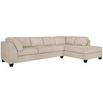 Mercer3 Lt Taupe Microfiber Right Chaise Sectional