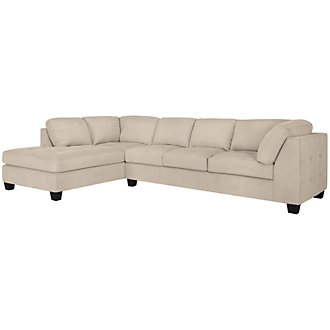 Mercer3 Lt Taupe Microfiber Left Chaise Sectional
