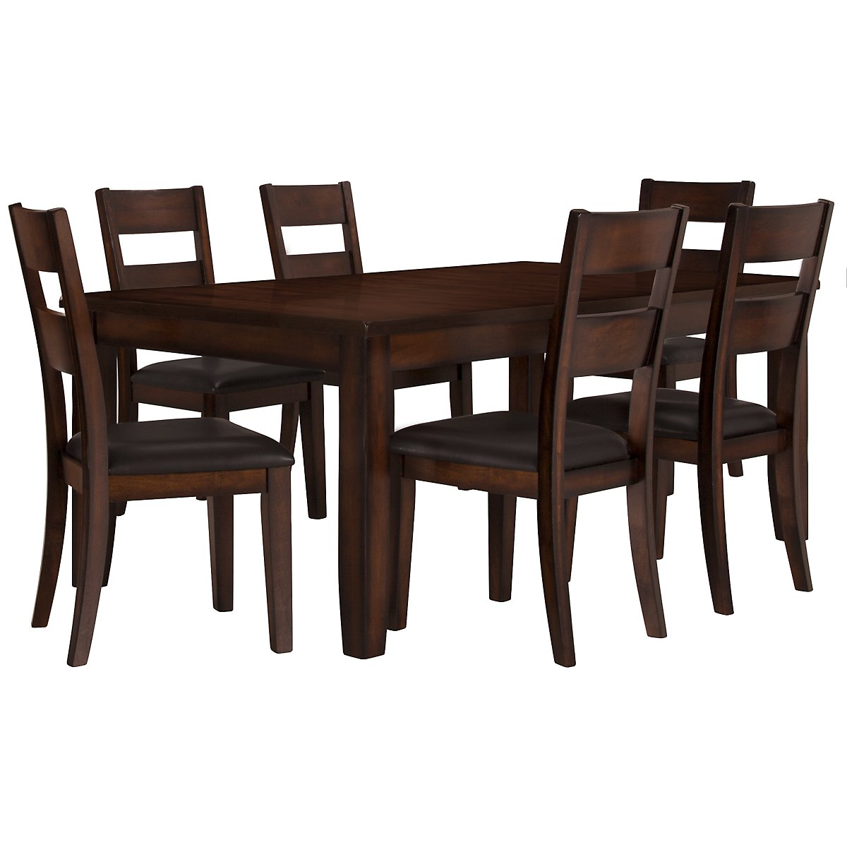 mango2 dark tone rect table 4 chairs