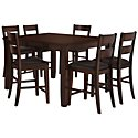 Mango2 Dark Tone High Table & 4 Barstools