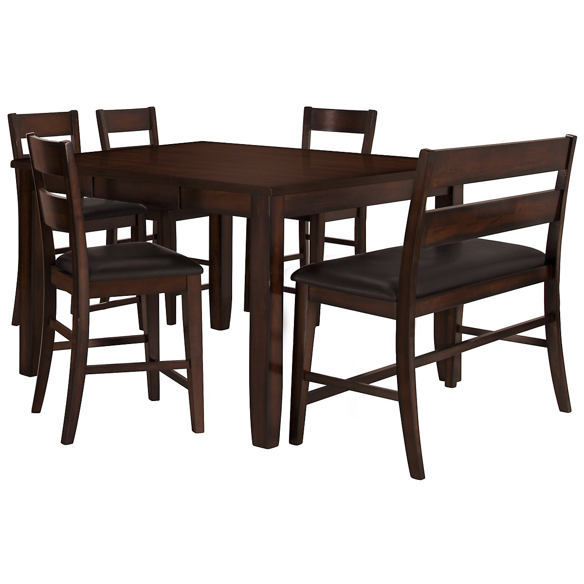 city furniture mango2 dark tone high table 4 barstools high bench