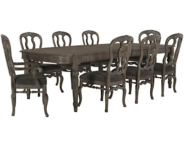 Belgian Oak Light Tone Rectangular Table & 4 Wood Chairs
