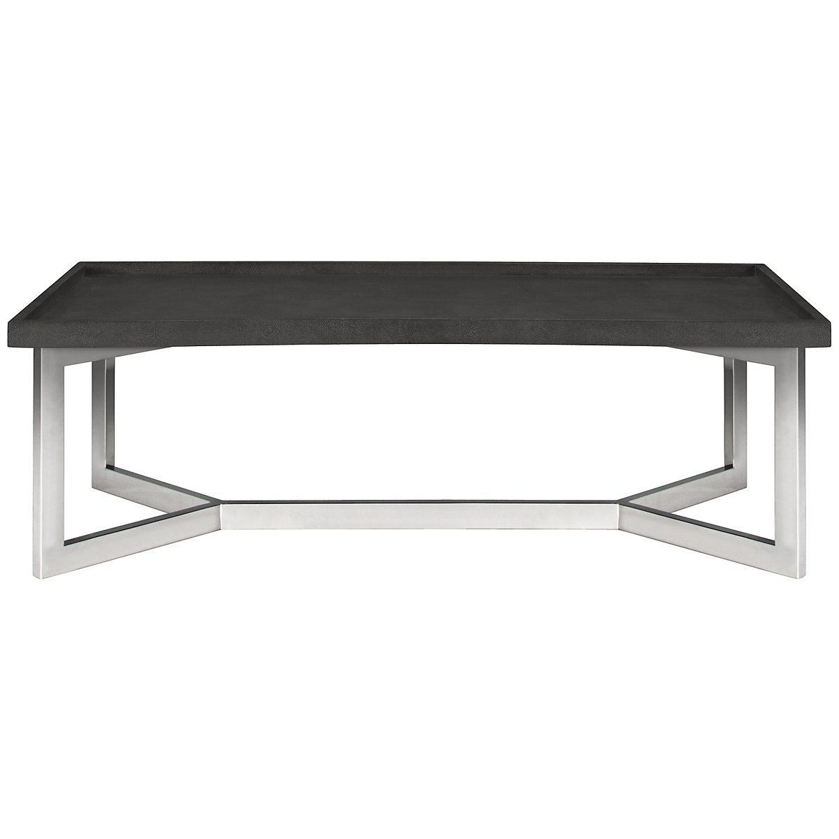 Stratton Dk Gray Rectangular Coffee Table