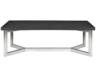 Stratton Dark Gray Rectangular Coffee Table
