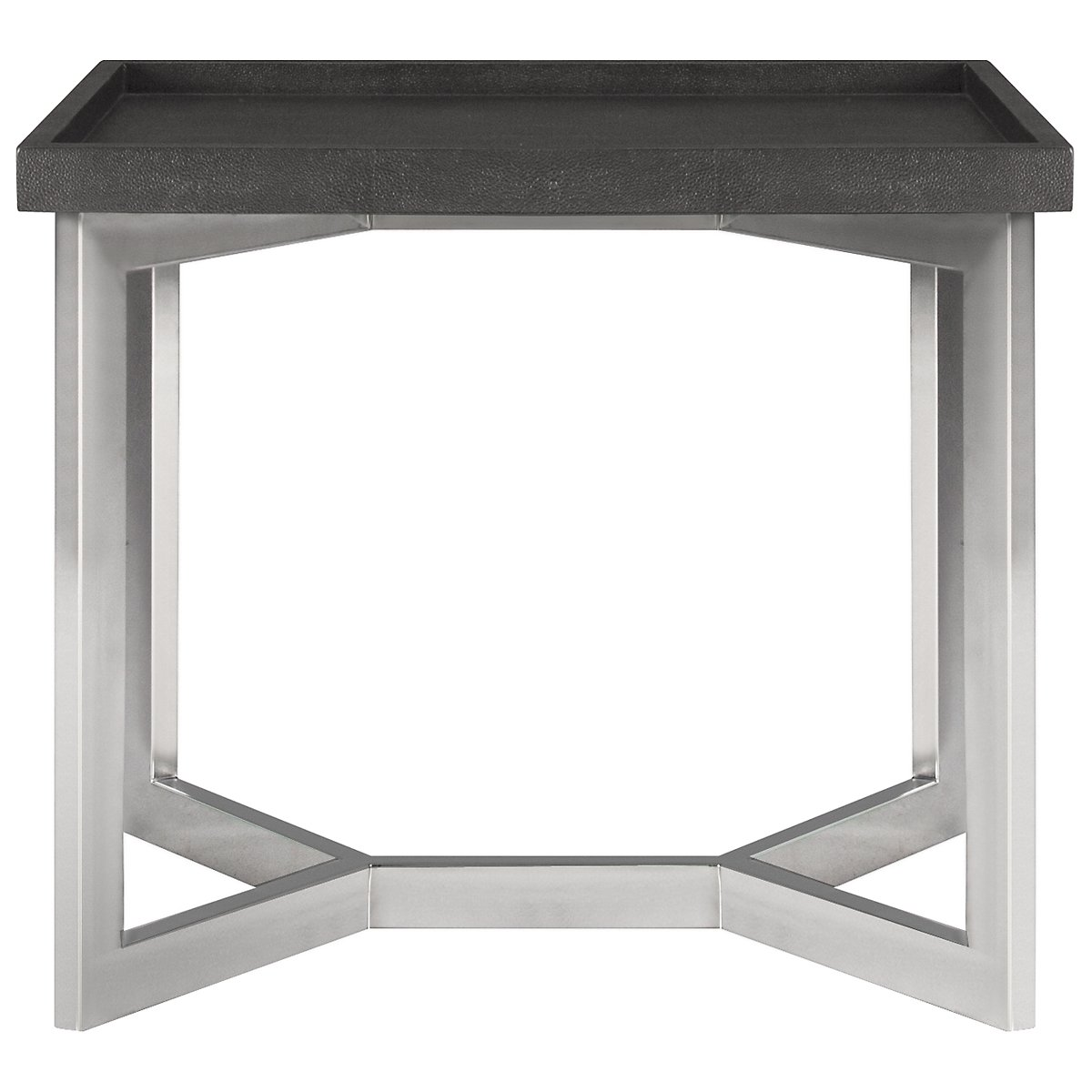 Stratton Dk Gray Large Rectangular End Table