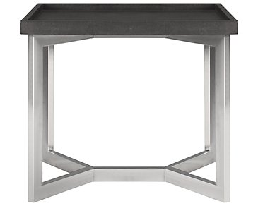 Stratton Dark Gray Large Rectangular End Table