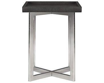Stratton Dark Gray Small Square End Table