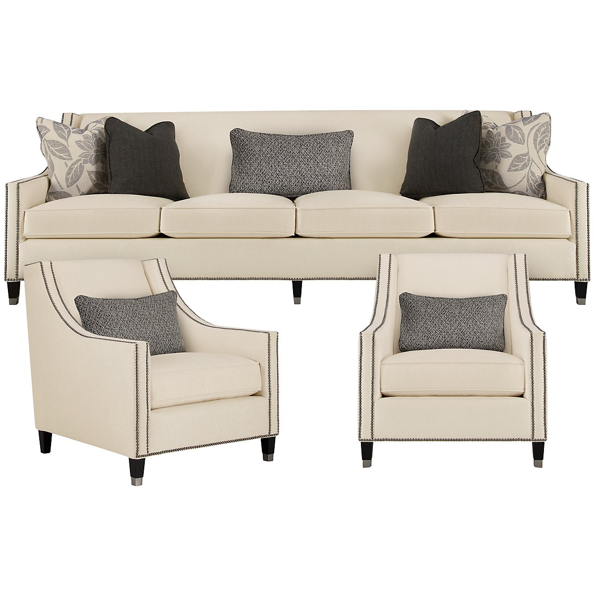 Palisades Light Beige Fabric Living Room