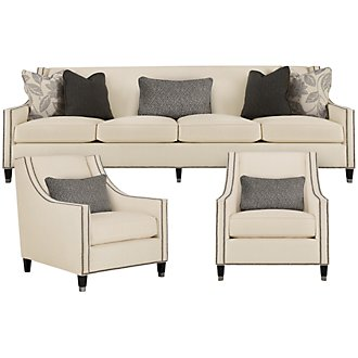 Palisades Lt Beige Fabric Living Room