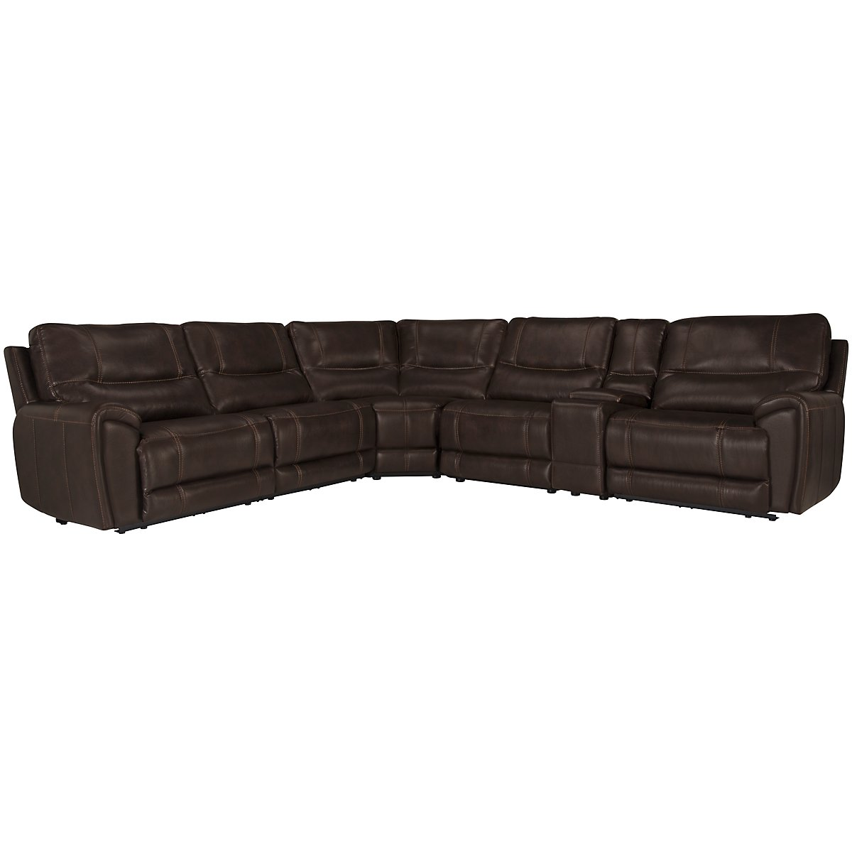 Nico Dark Brown Microfiber Small Two-Arm Power Reclining Sectional