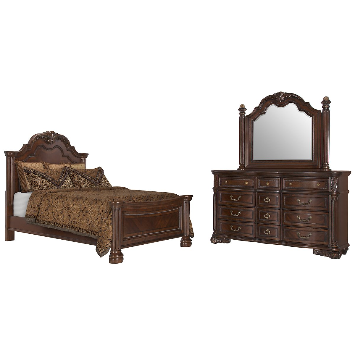 city furniture regal dark tone dresser mirror