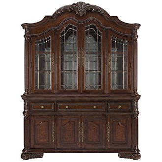 Regal Dark Tone China Cabinet