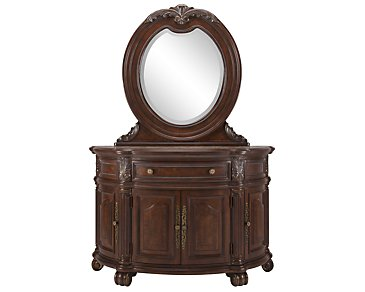Regal Dark Tone Server & Mirror