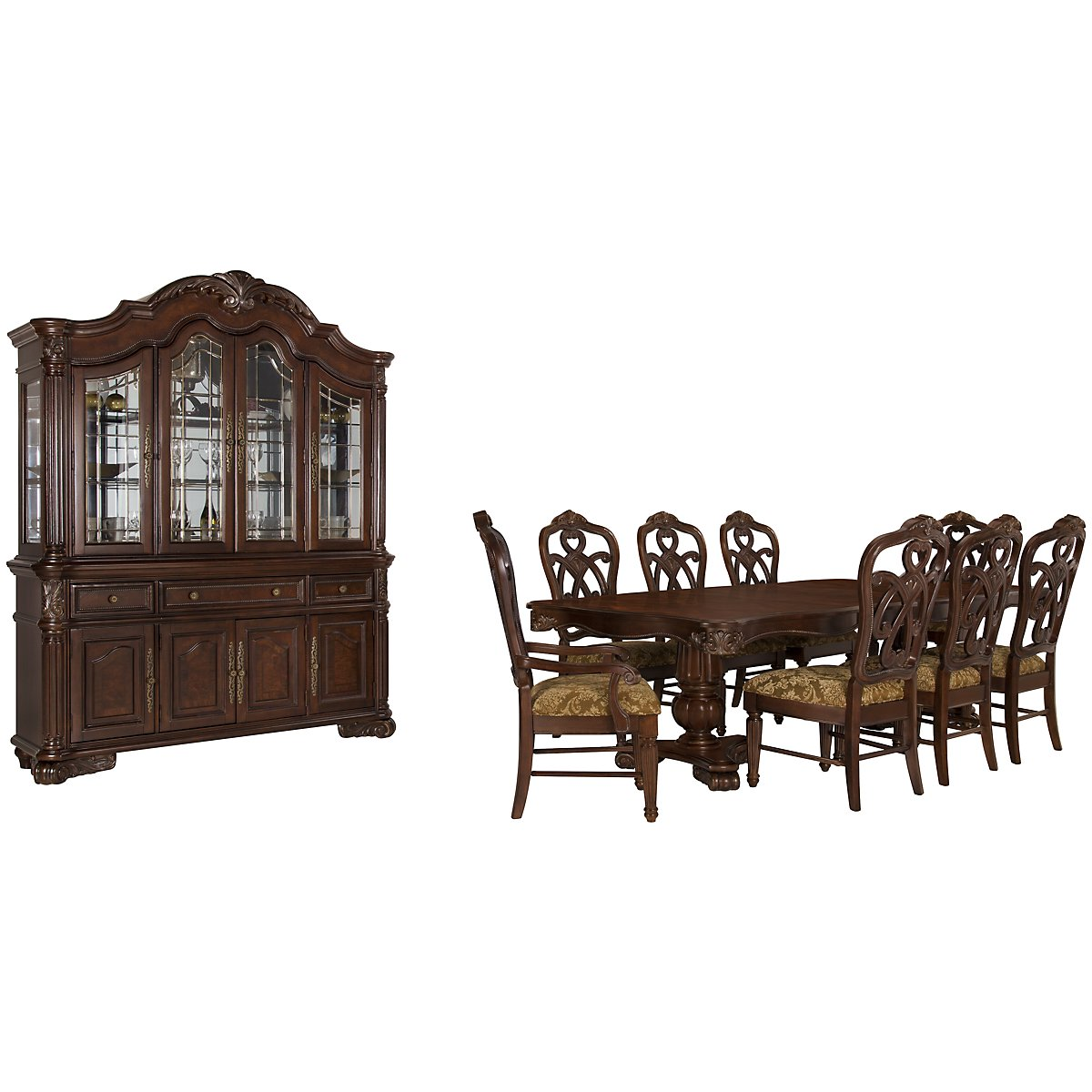 Regal Dark Tone Rectangular Dining Room
