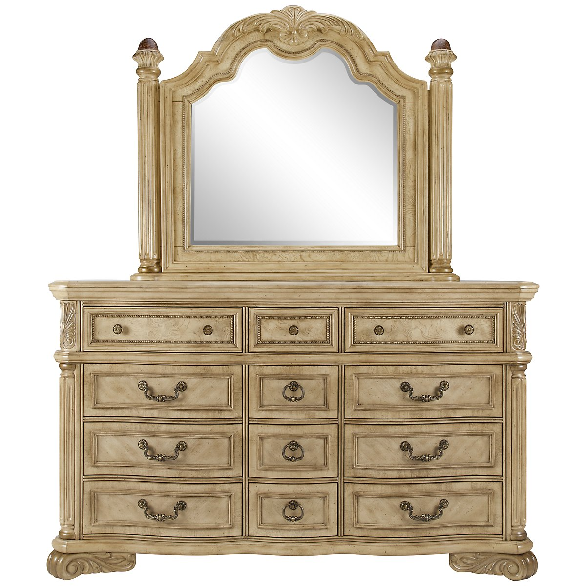 Regal Light Tone Dresser & Mirror