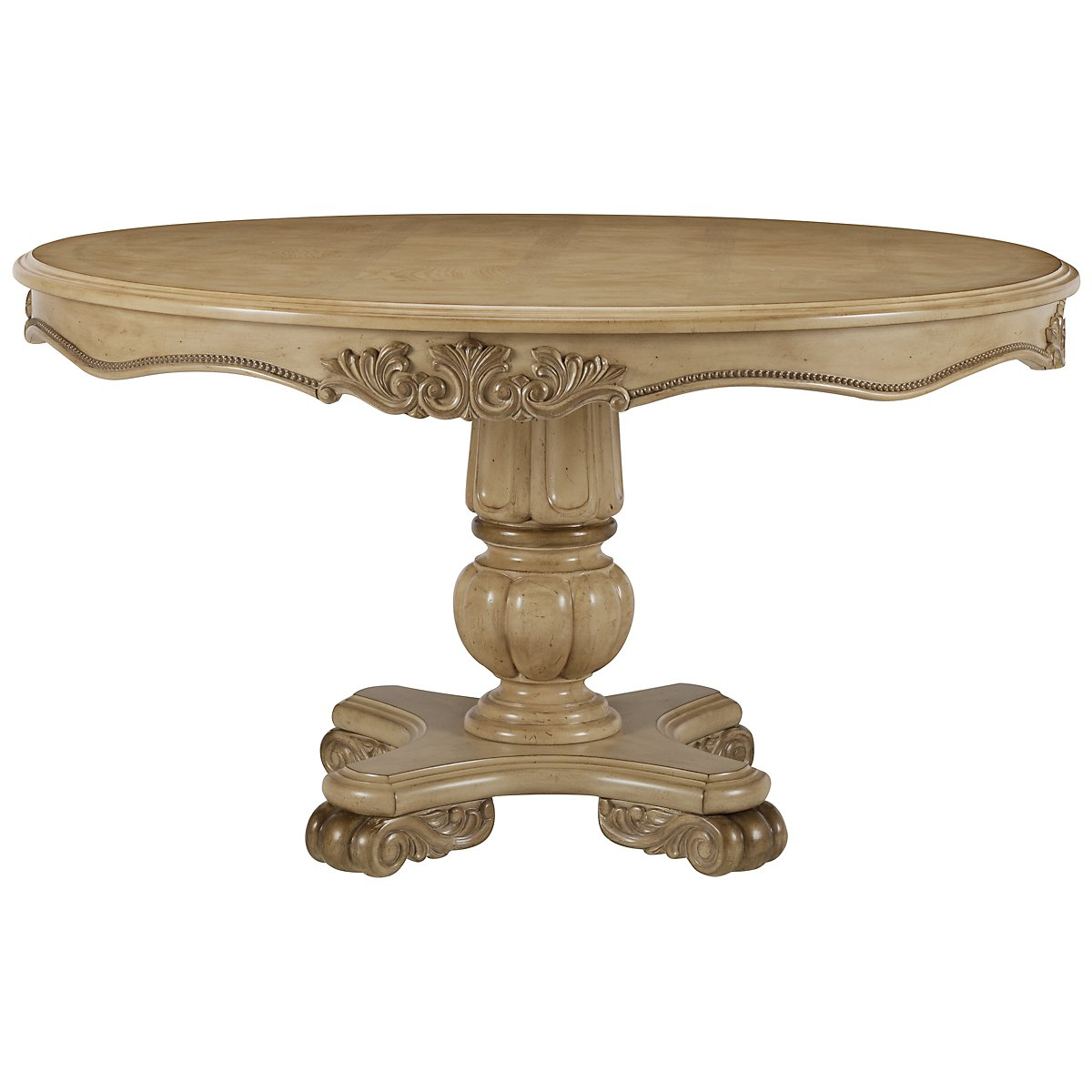 Regal Light Tone Round High/Low Table