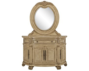 Regal Light Tone Server & Mirror