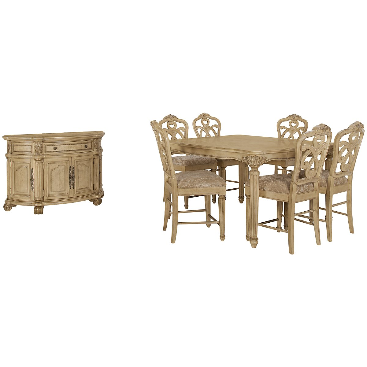 Regal Light Tone High Dining Room