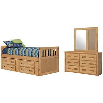 Cinnamon2 Mid Tone Panel Storage Bedroom