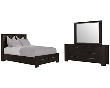 Tocara Dark Tone Platform Storage Bedroom