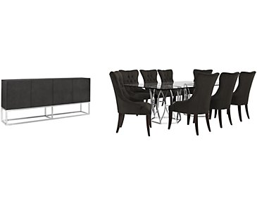 Argent Dark Gray Rectangular Dining Room