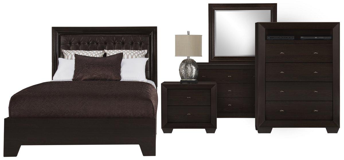 City Furniture Adele2 Dark Tone Nightstand
