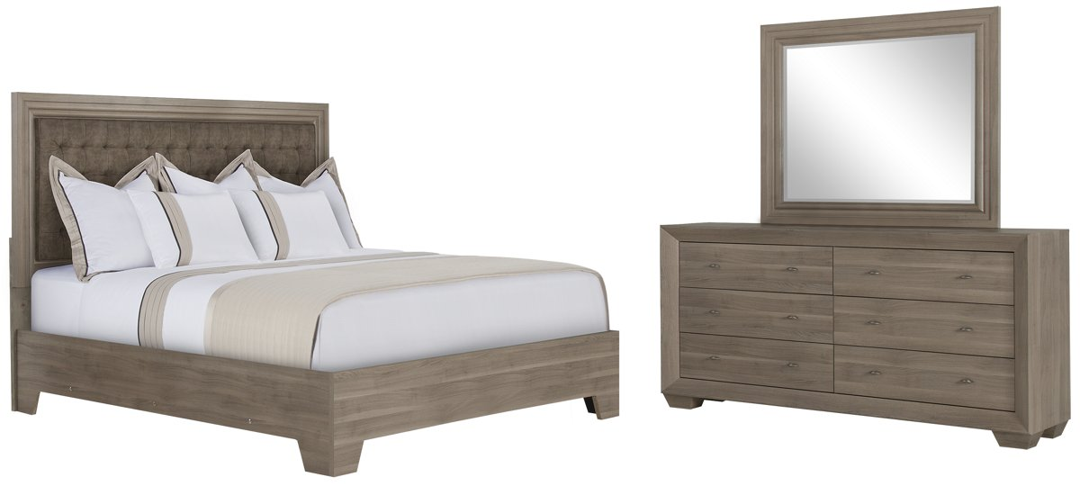 City Furniture: Adele2 Light Tone Dresser & Mirror