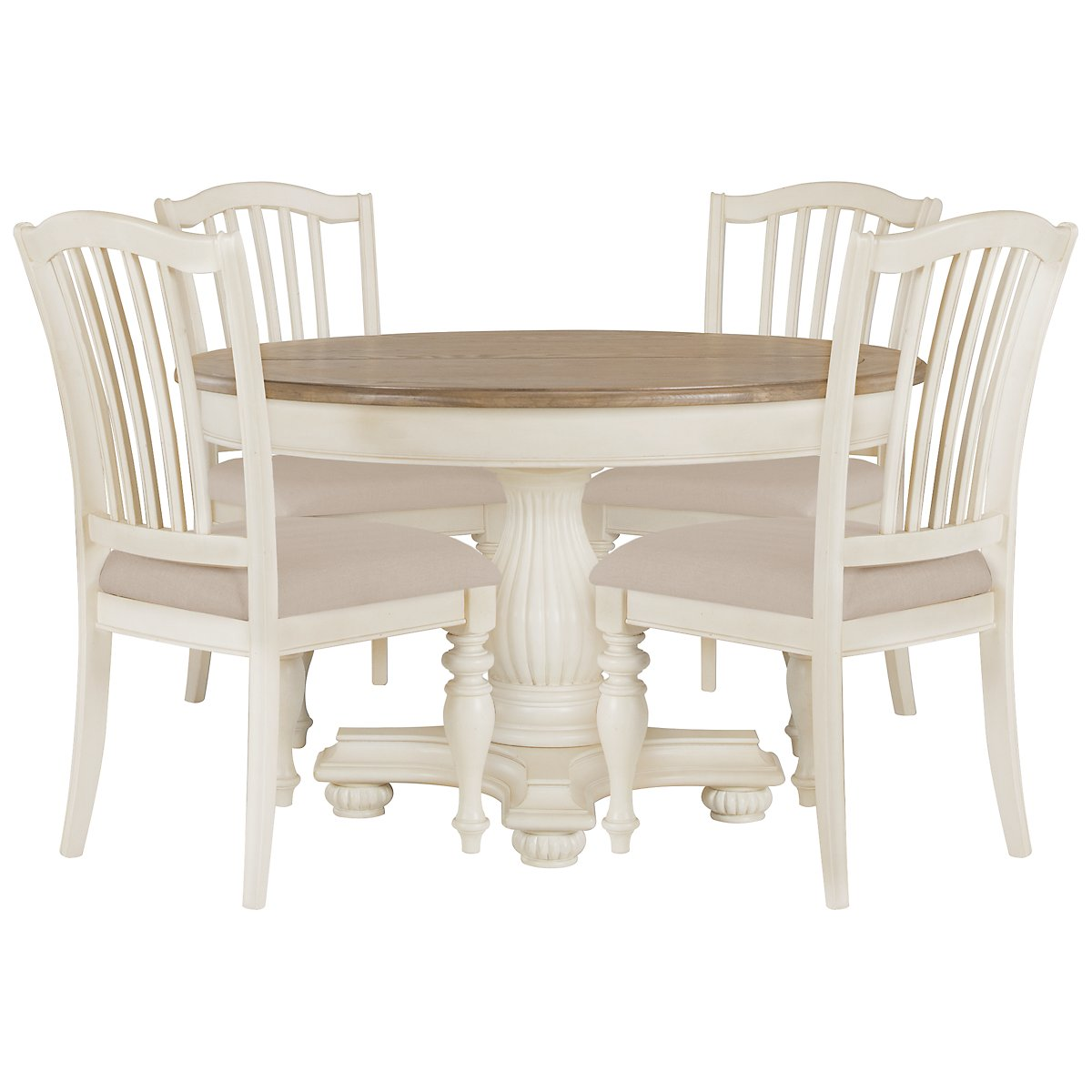 city furniture coventry two tone round table 4 wood chairs
