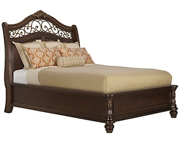 Tradewinds Dark Tone Platform Bed